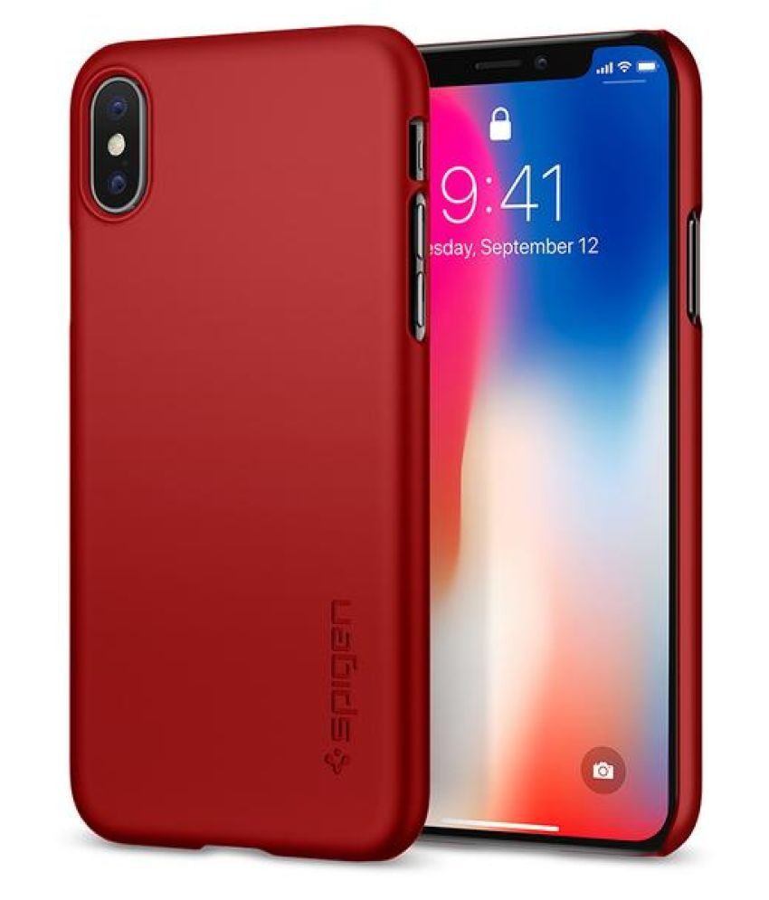 Apple iPhone 7 Plus Plain Cases Spigen   Red