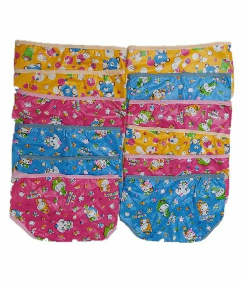 Baby new born washable reusable hosiery cloth langot nappy double layer diaper/ langot 0 6 month  multicolour  pack of 12