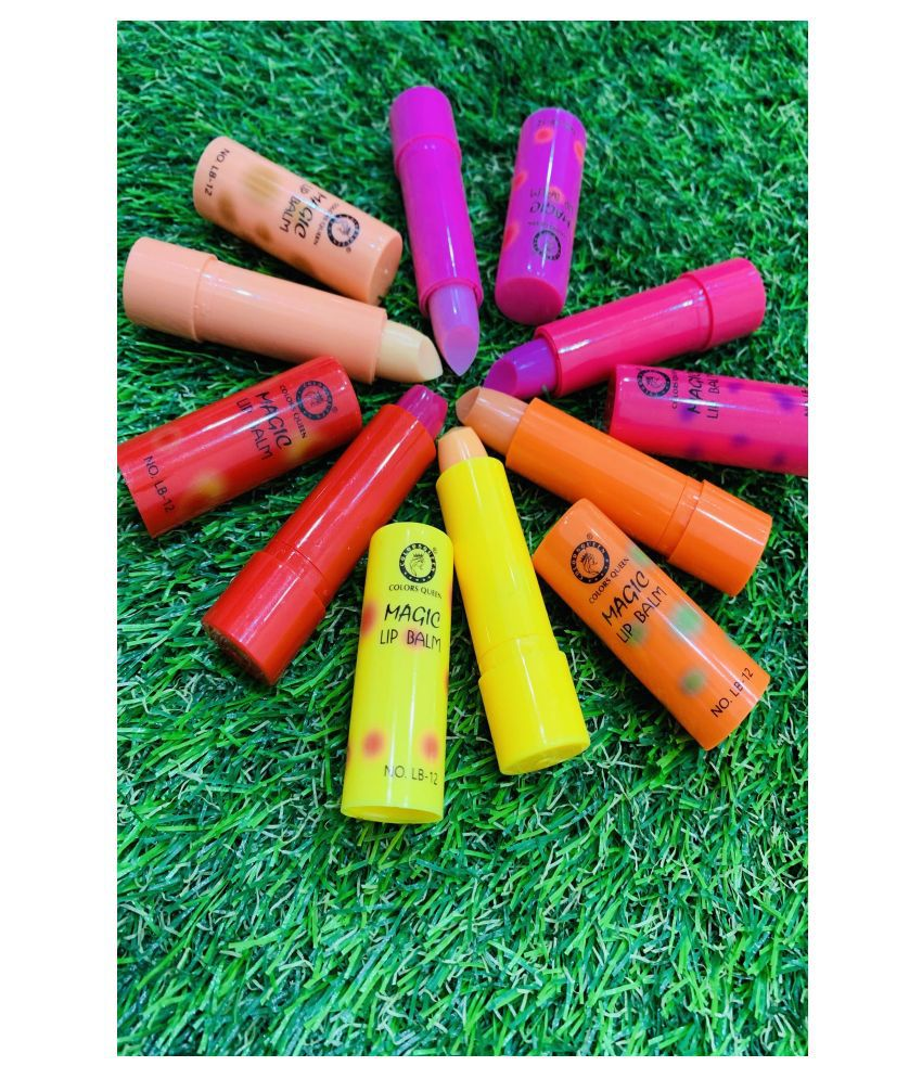 Colors Queen Lip Gloss Balm Multicolor Pink SPF 15 Pack of 6 4 g
