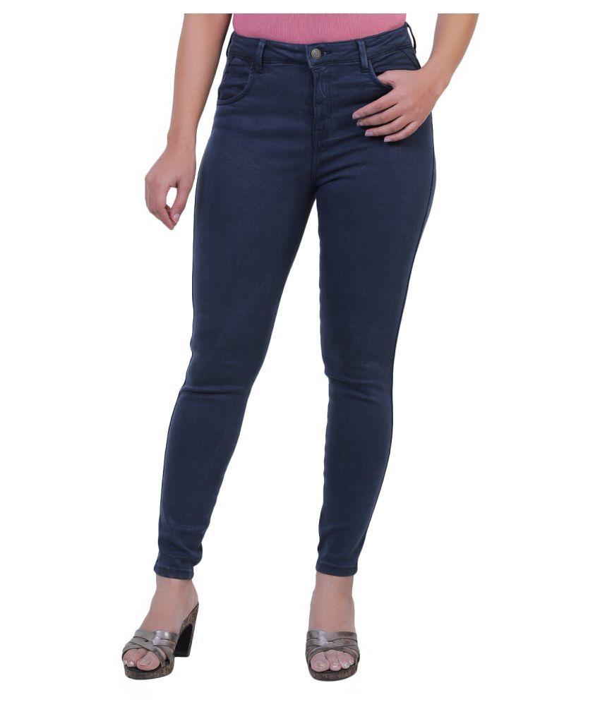 Sisney Cotton Lycra Jeans - Navy