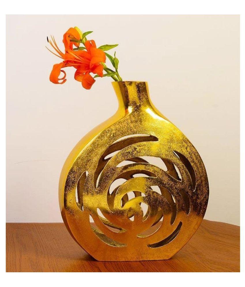 designer international Aluminium Table Vase 32 cms - Pack of 1