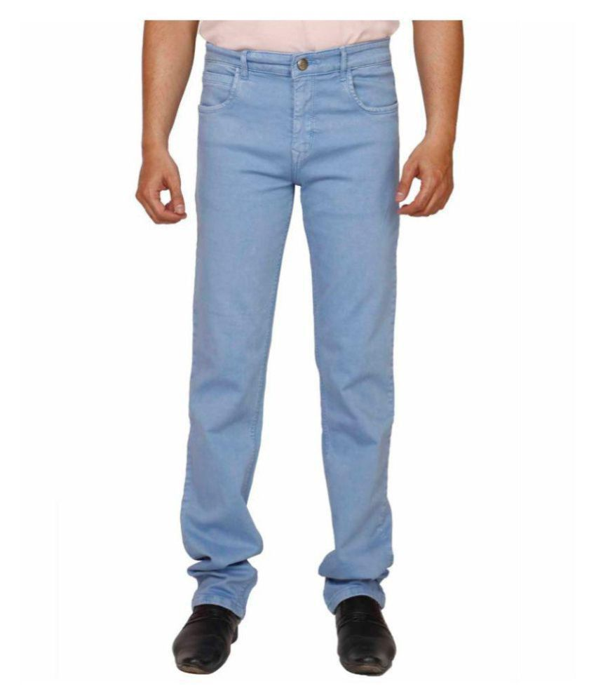 PRANKSTER Light Blue Regular Fit Jeans
