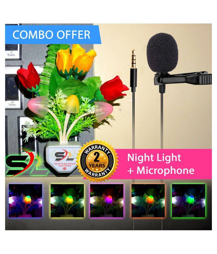 Radhe Instrument COMBO NIGHT LIGHT + Condenser Microphone