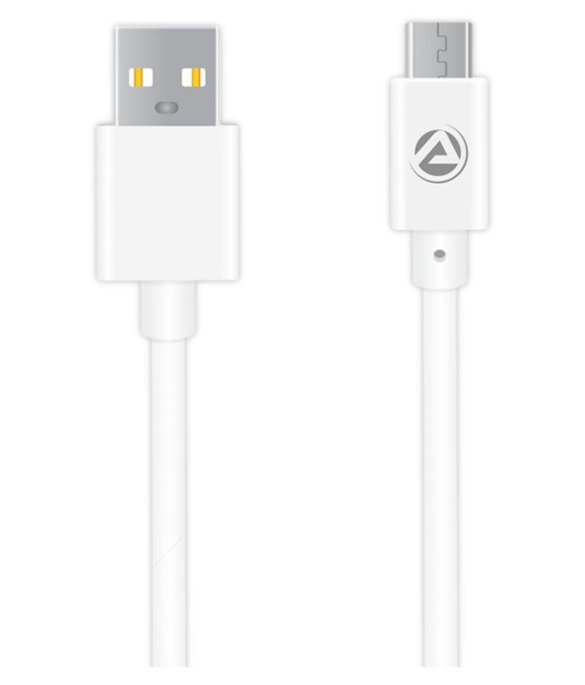 ARU USB Data Cable White   1 Meter