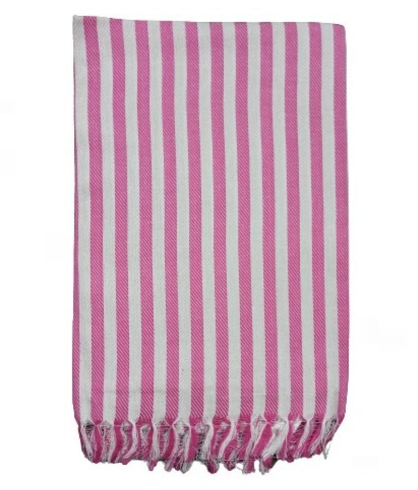VIRUTSHAM Single Cotton Bath & Face Towel Set Pink