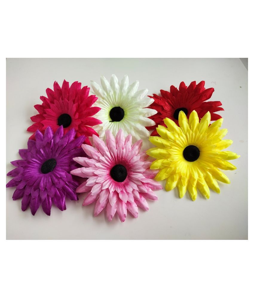 12pcs Multicolor Artificial Flowers for Diwali & Room Decoration