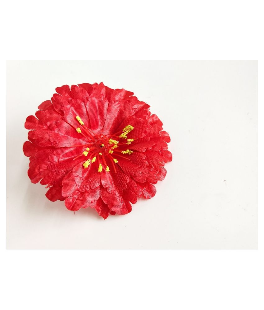 26pcs Red Color Artificial Flowers for Diwali & Room Decoration