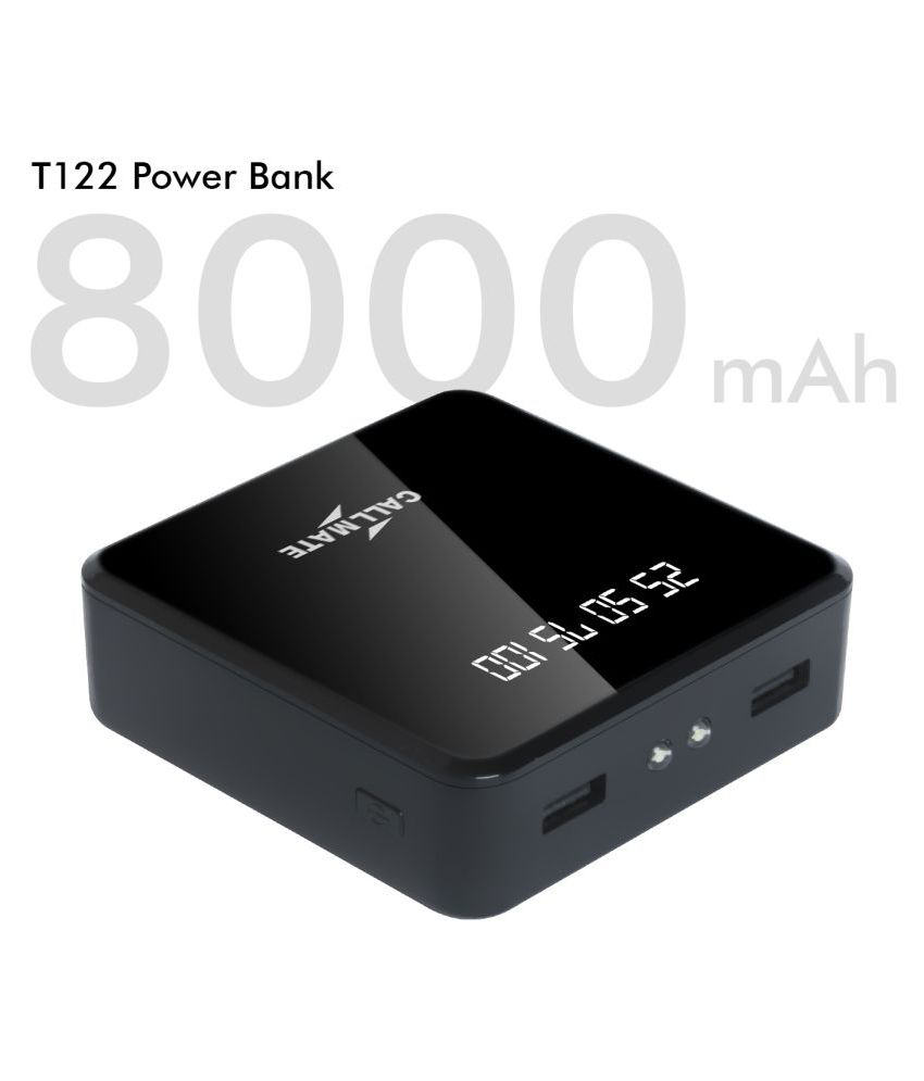 Callmate T122 8000  mAh Li Ion Power Bank Black