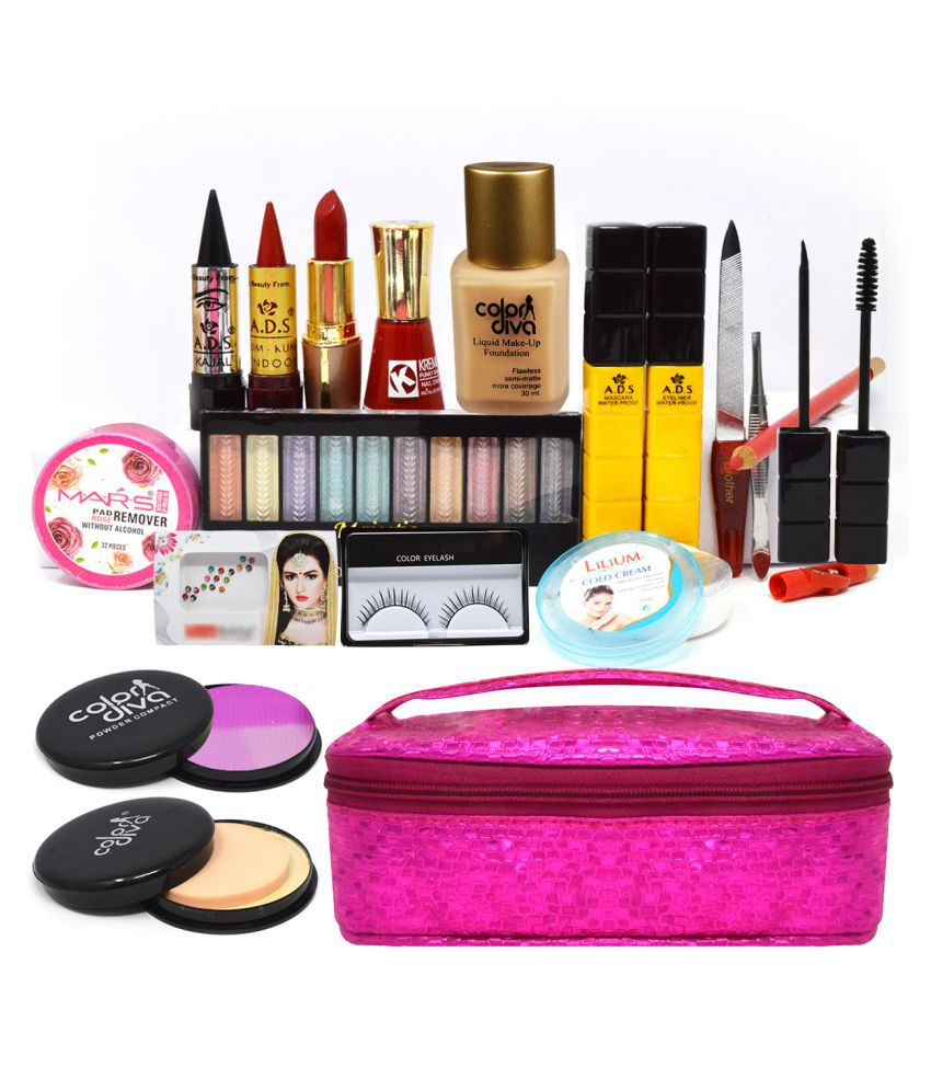 Adbeni All In One Daily Home Salon Makeup Kit with Pouch