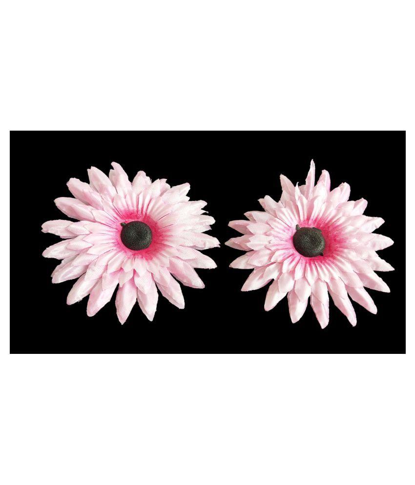 5pcs Lite Pink Color Artificial Flowers for Diwali & Room Decoration