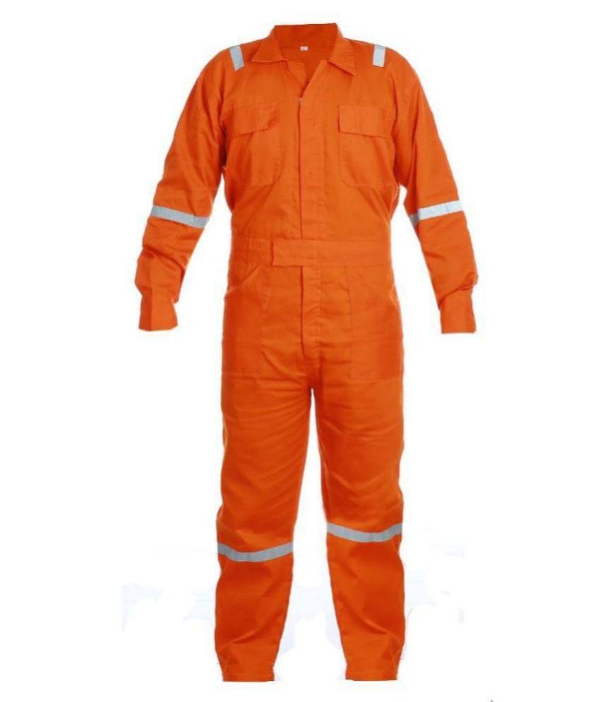 AMS Worklite Orange Boiler Suit with reflector