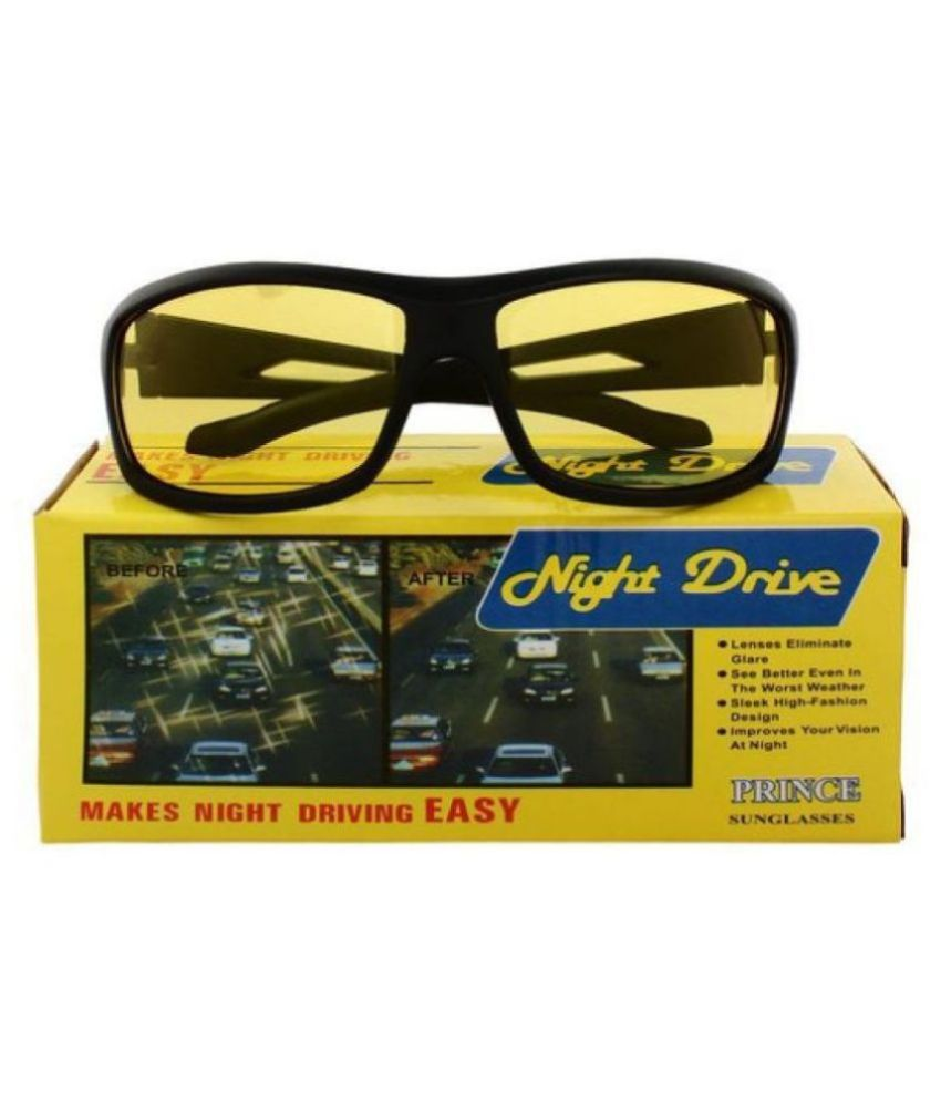 Yellow Night Vision Driving Men's and Women's Best Quality glasses  WITH YELLOW BOX PACKING