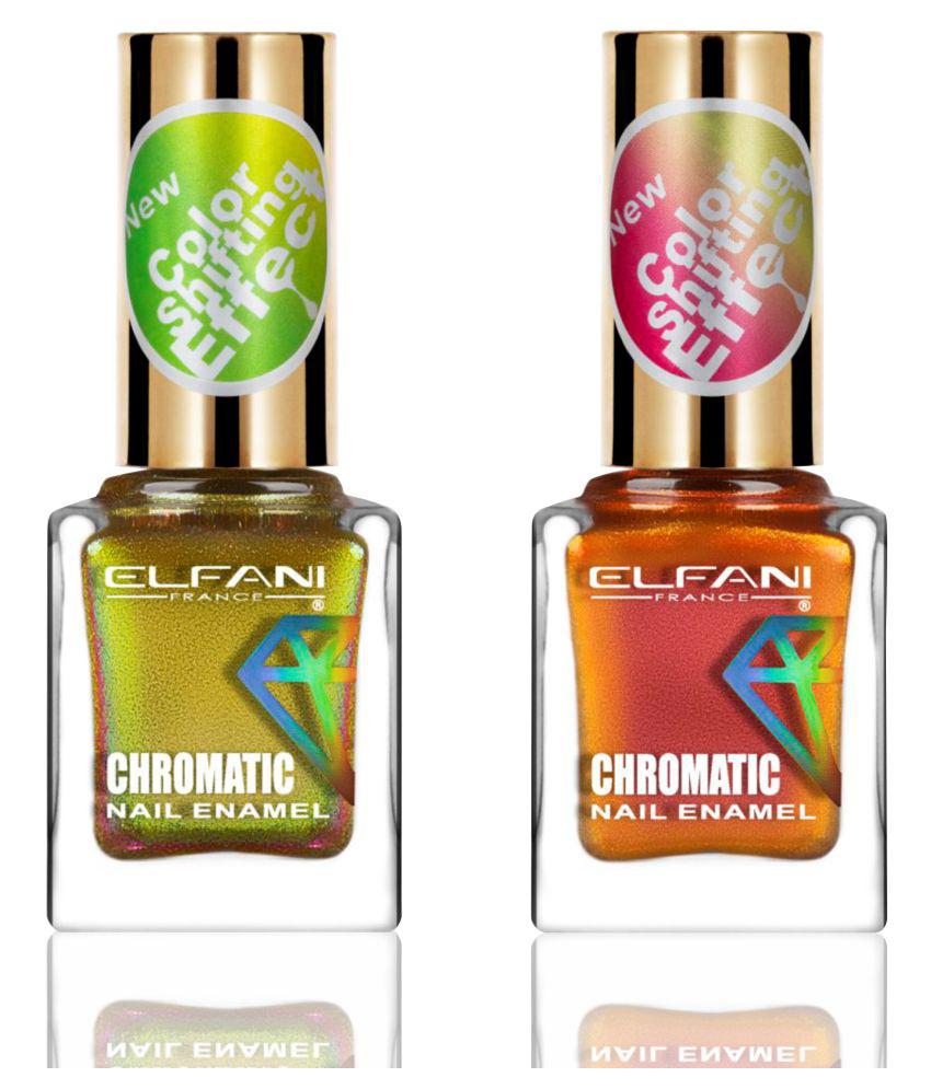 Elfani Nail Polish Multi Multichrome Pack of 2 18 mL