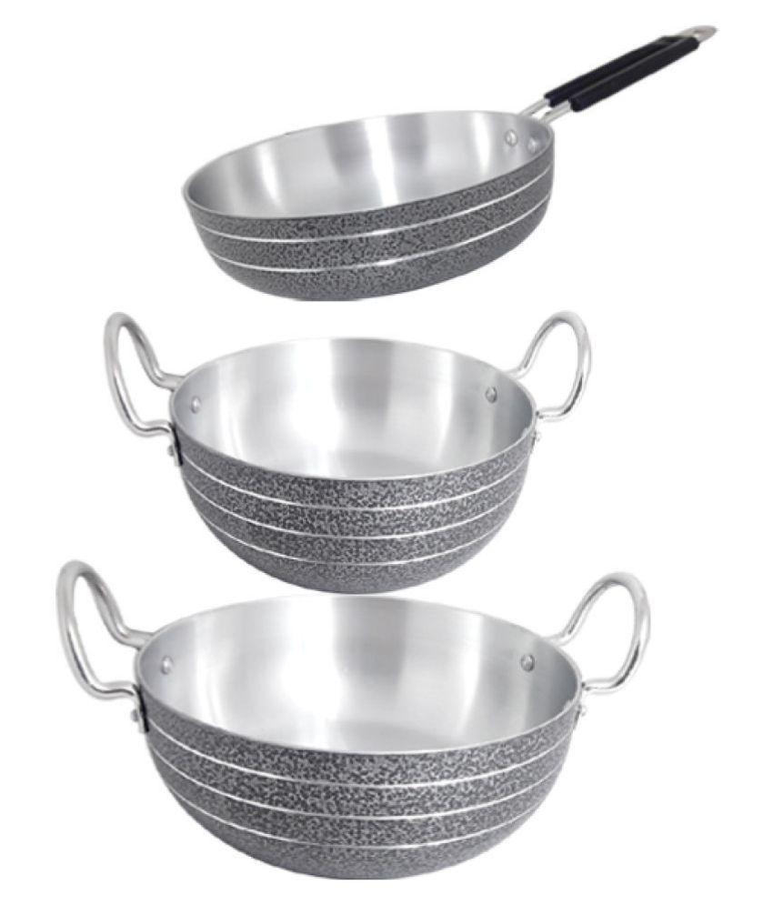 bartan hub Coolware Set 3 Piece Cookware Set
