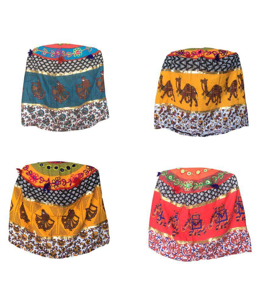 Kajalenterprises 4 Seater Cotton Set of 4 Sofa Covers