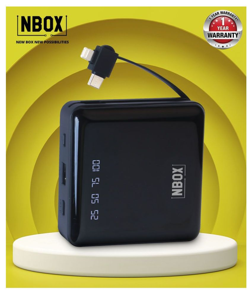 NBOX DX03 2A 10000 -mAh Li-Polymer Power Bank Black