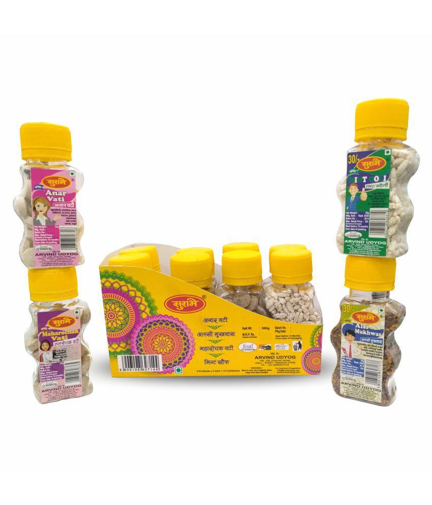 SURBHI churan mouth freshener mukhwas Candy Box SWEET AND SOUR 360 gm