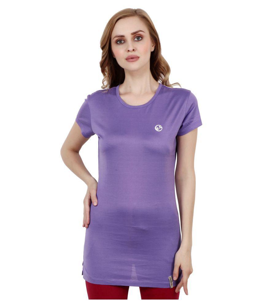 Shellocks Cotton Purple T-Shirts