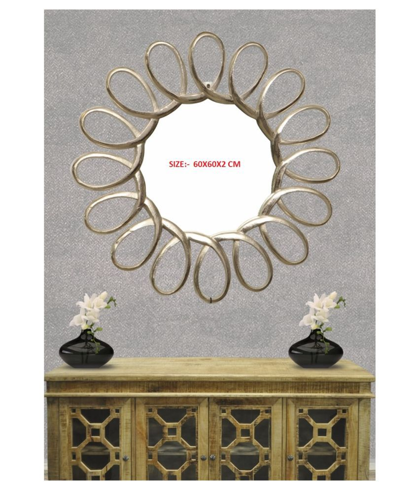designer international Mirror Wall Mirror Assorted ( 60 x 60 cms ) - Pack of 1