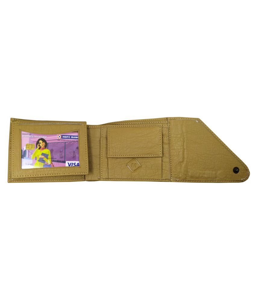MEXUS Faux Leather Beige Fashion Regular Wallet