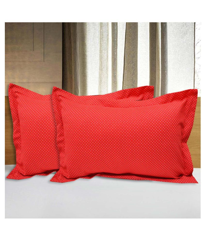 R home Pack of 2 Red Pillow Cover