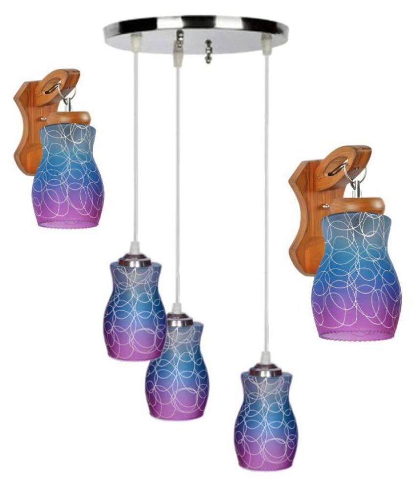 AFAST Glass Decorative Desinger Pendant Multi - Pack of 3