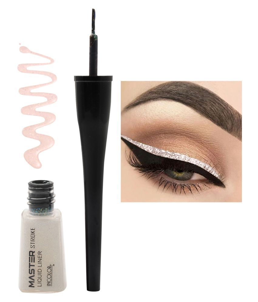 Incolor Master stroke Eyeliner Shade 11 Pearly Silver   6 ml