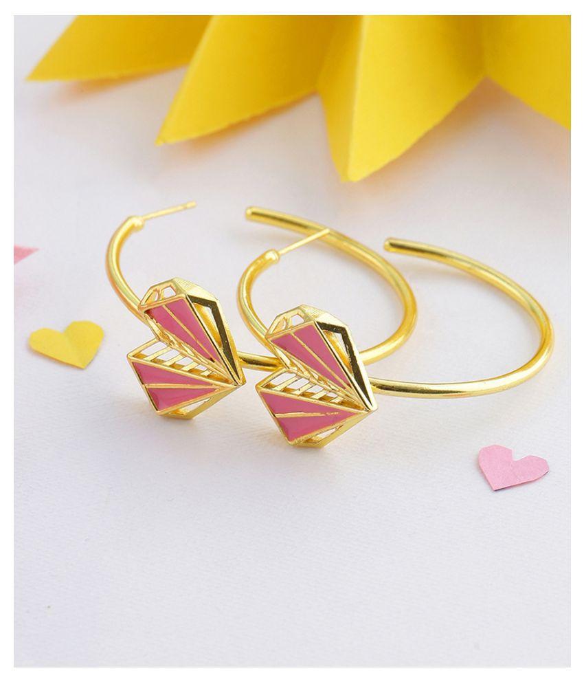 Voylla Mi Amore Classic Hoop Earrings