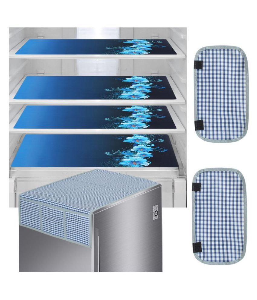 Delfe Set of 7 PVC Blue Fridge Mats