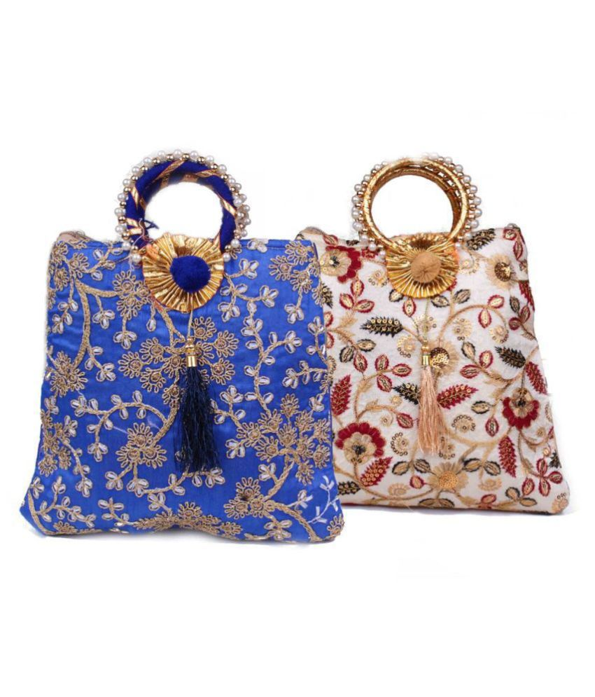 Fashion Art Multi Fabric Handheld