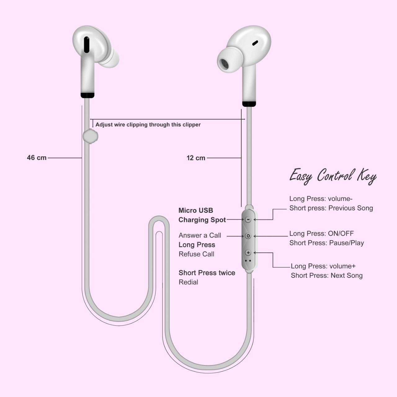 Forever 21 In Ear Wireless Bluetooth With Mic Neckband Wireless Earphones bluetooth headphone With Mic