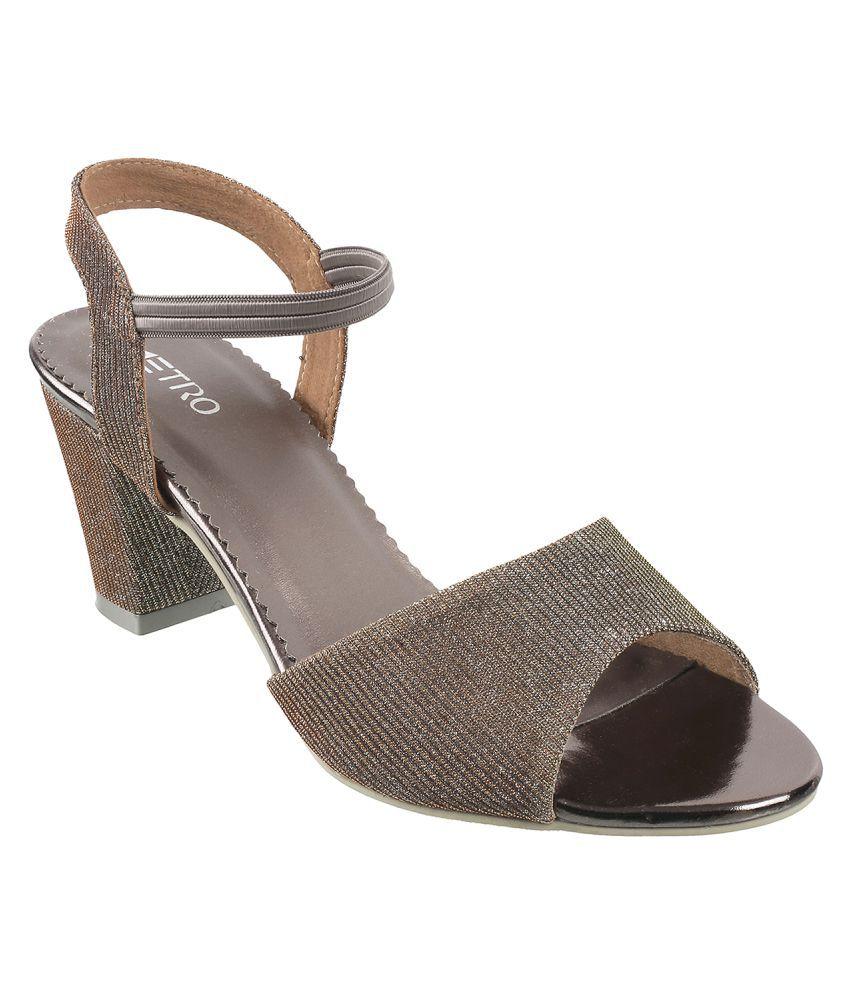 Metro Gray Block Heels