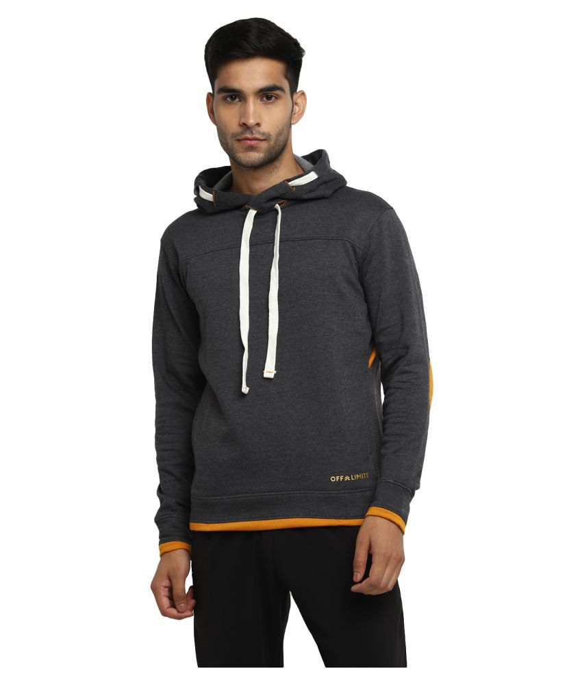 OFF LIMITS Grey Polyester Sweatshirt