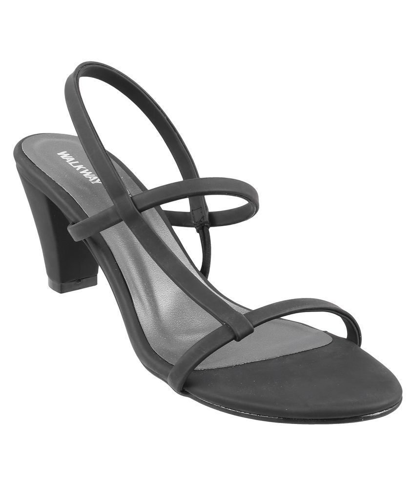 WALKWAY BLACK Block Heels