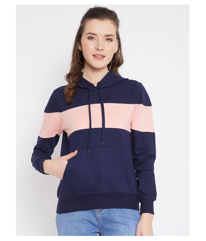 Jhankhi Fleece Multi Color Hooded Sweatshirt
