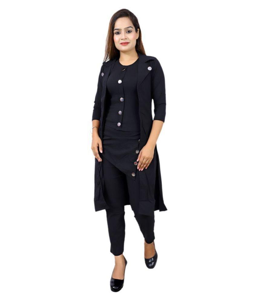 LC Hoisery Black Wrap Dress