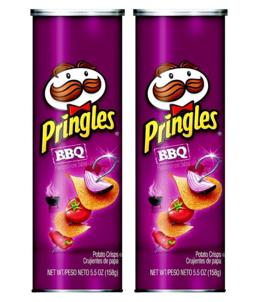 Pringles BBQ Potato Chips 158 g Pack of 2