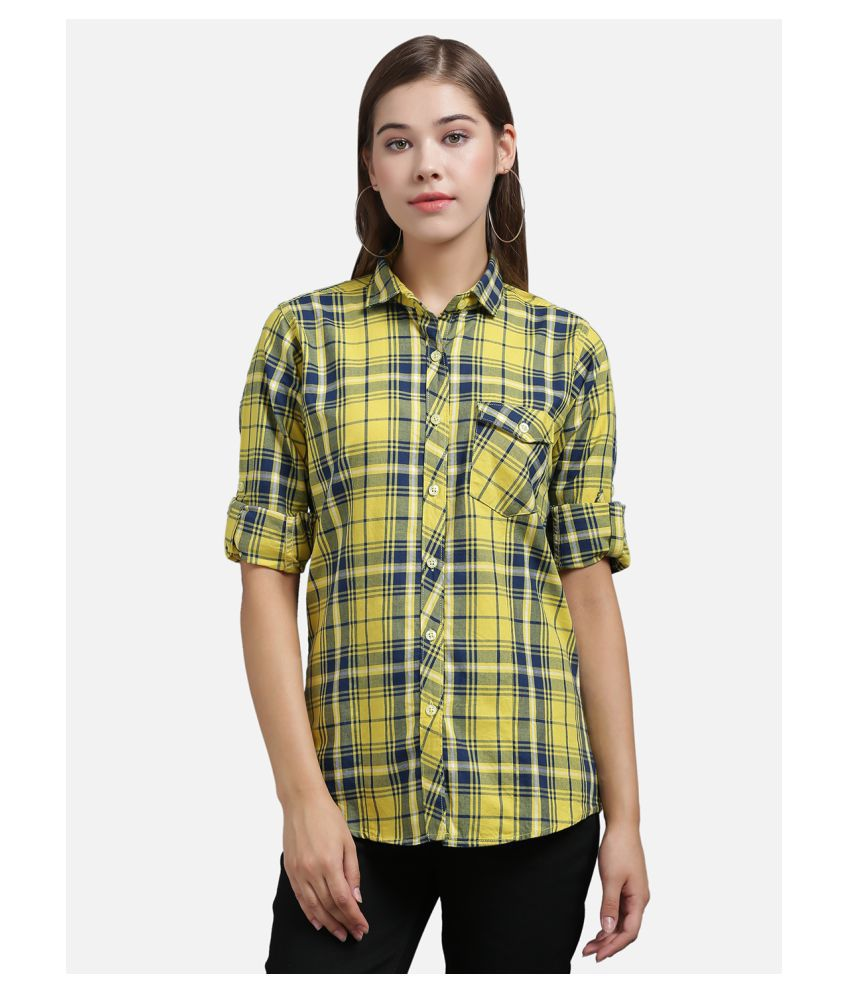 The Dry State Yellow Cotton Shirt