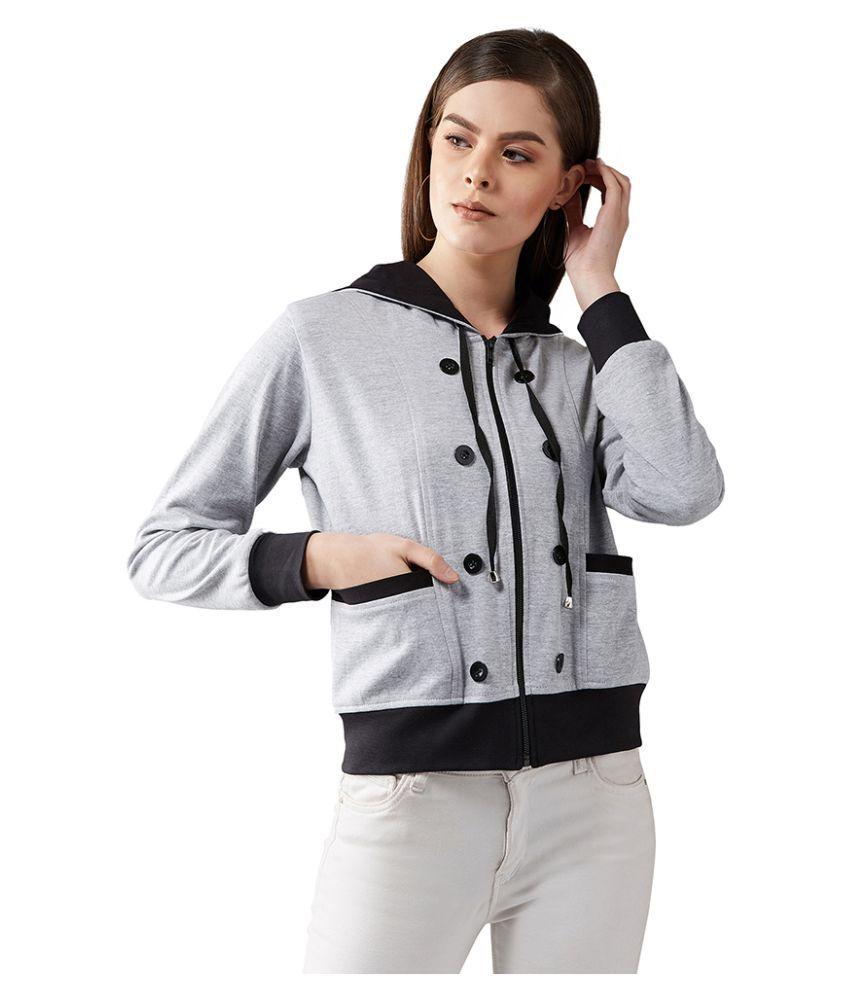 Dolce Crudo Cotton Grey Hooded Jackets