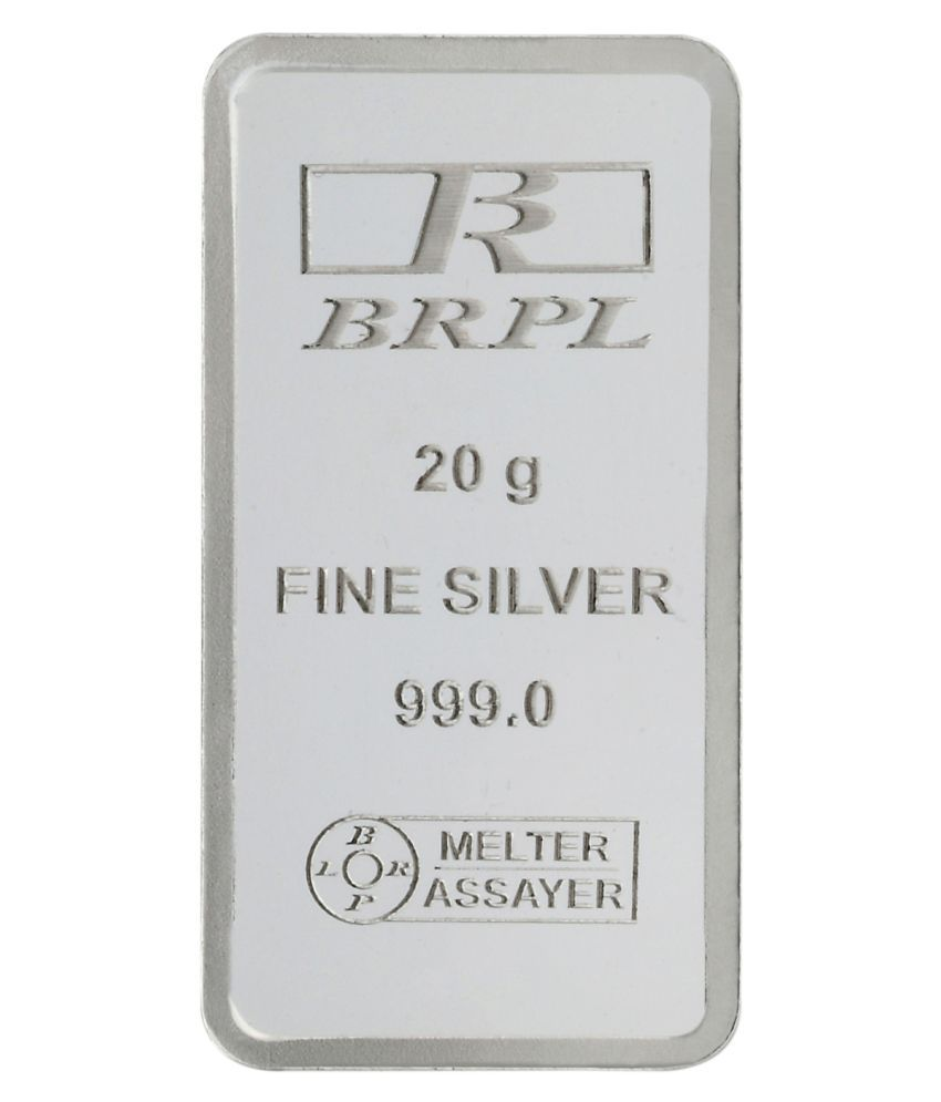 Bangalore Refinery P Ltd 20 gram Silver Plain Bar