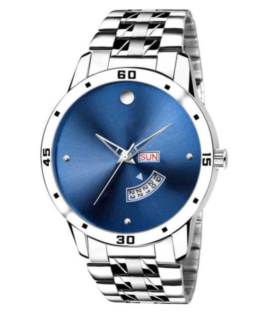 SENJARYA TIMES Date & Day Stainless Steel Analog Men's Watch