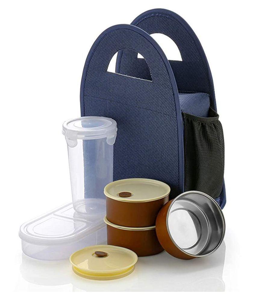 Krishna Emporia Multicolour 5pc Lunch Box with Bag