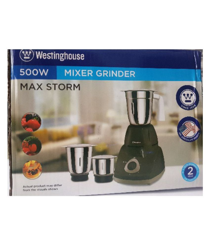 Westinghouse MG50W 500W 250 Watt 3 Jar Mixer Grinder