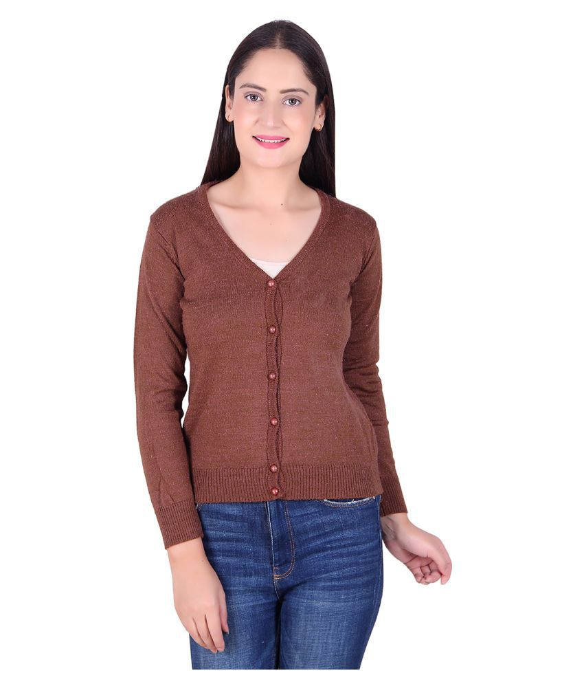 Ogarti Acrylic Brown Cardigans Dress