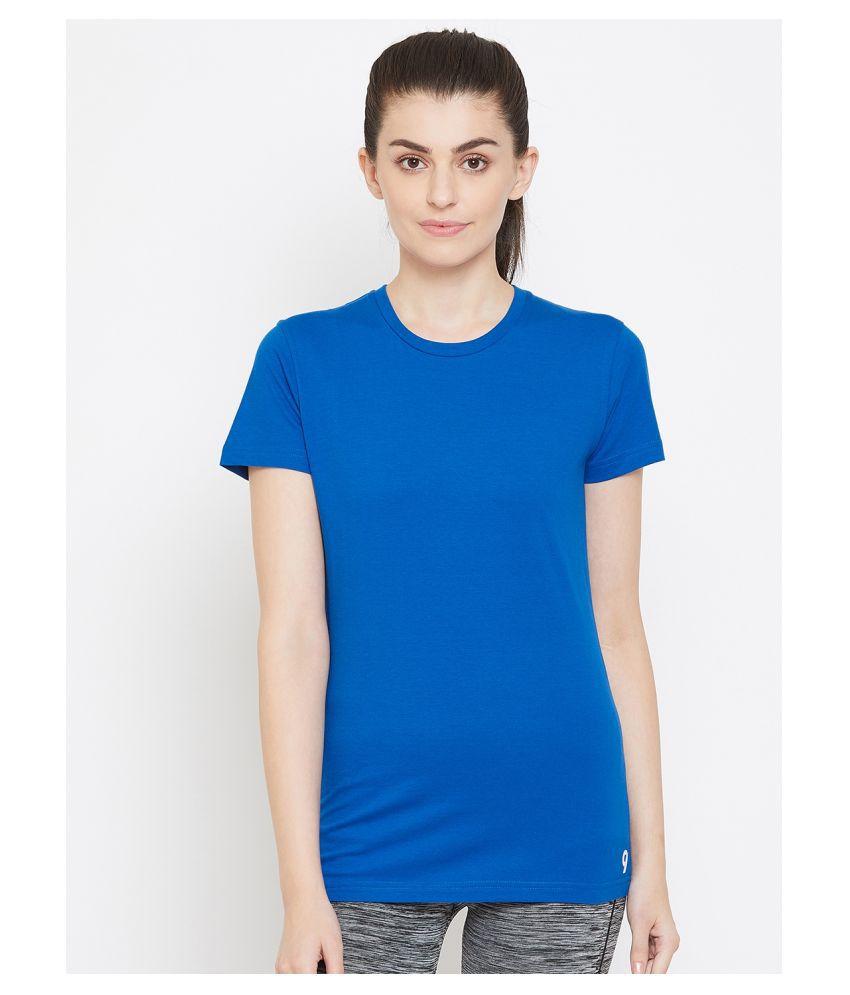 C9 Airwear Cotton Regular Tops - Blue