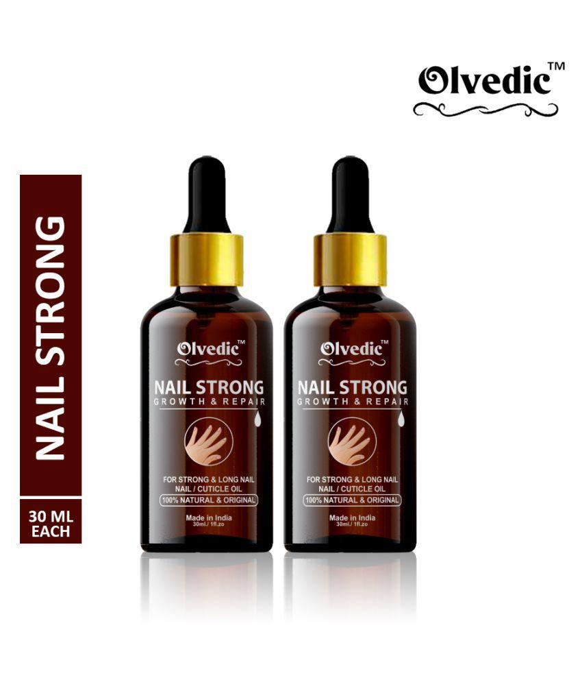 olvedic 100% Pure Nail Strong Oil Cuticle Nail Polish Yellow Glossy Pack of 2 60 mL