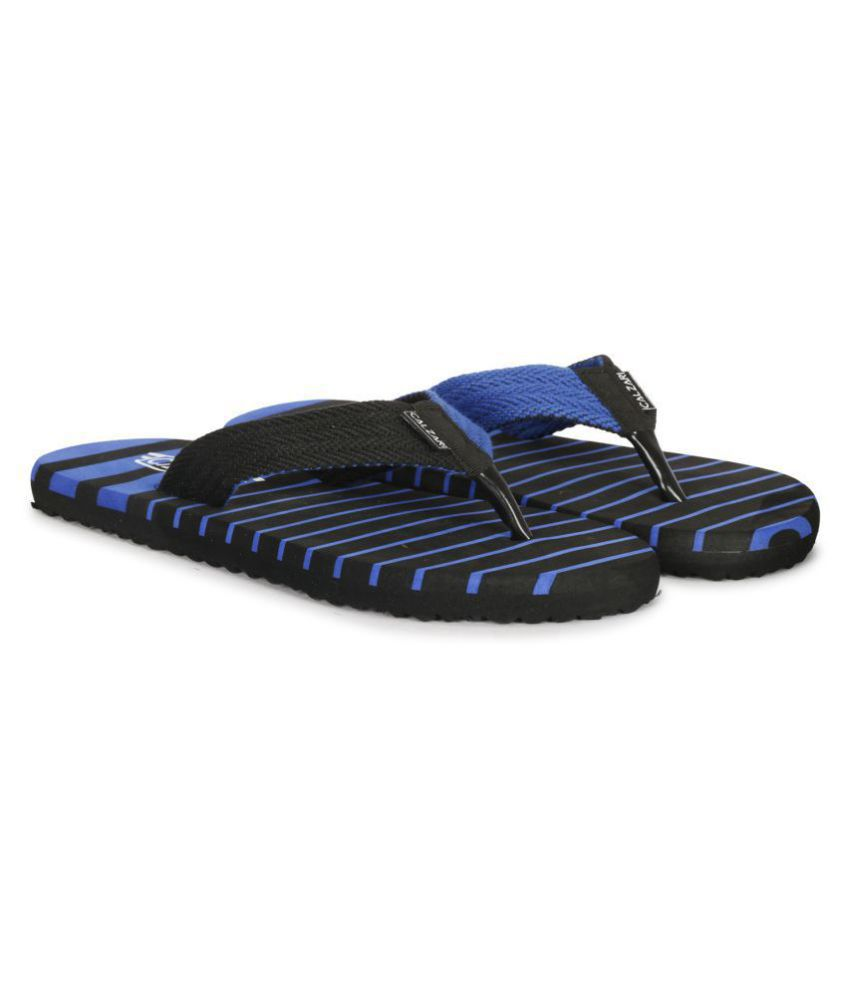 CALZARI Blue Thong Flip Flop