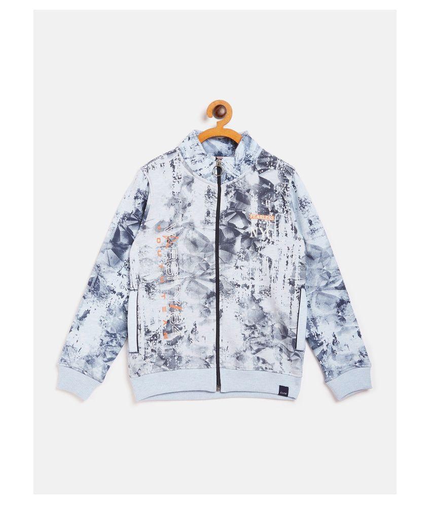 COURSES & WALES Boys Sweatshirt Fleece Regular Fit Sky Mil.