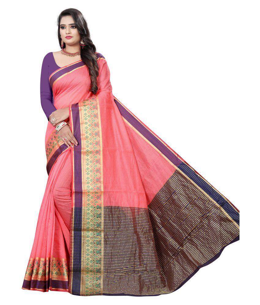 Pretty MMME Pink Chanderi Saree