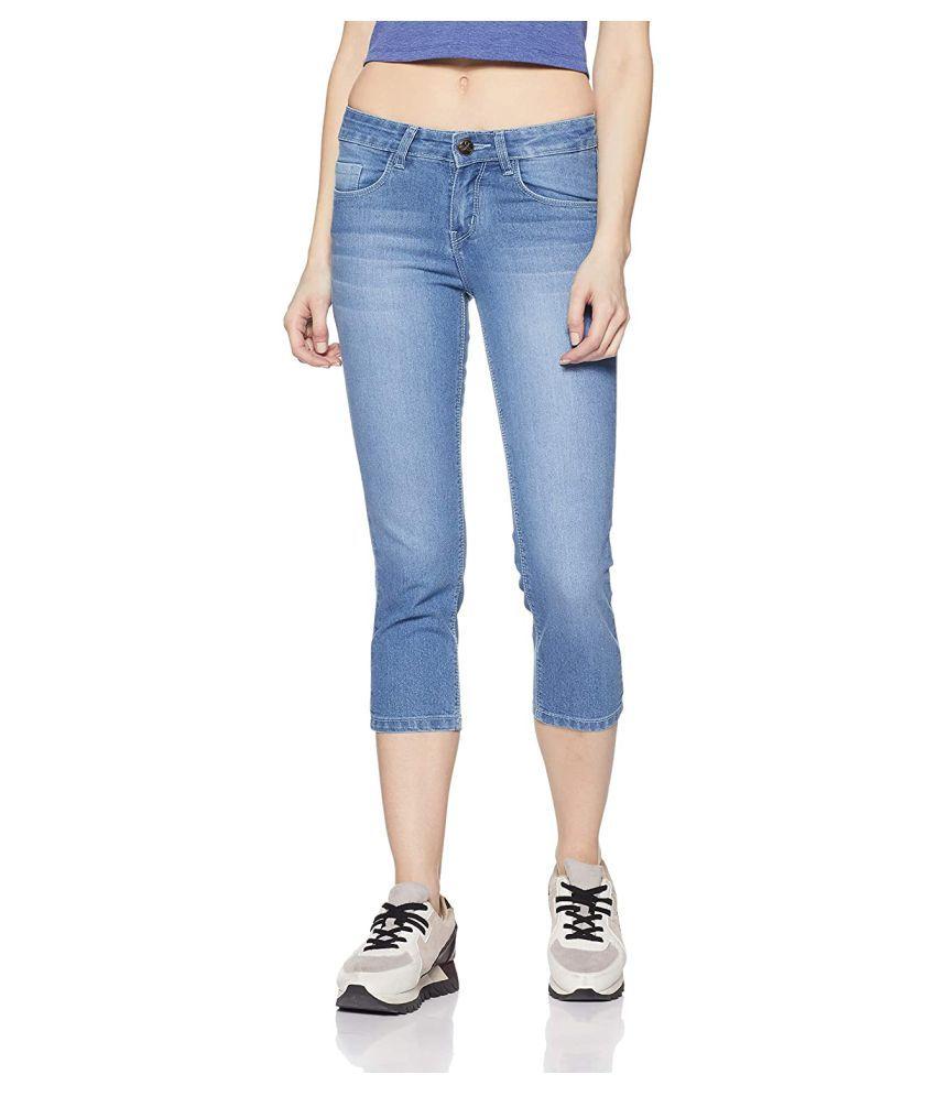 Jealous 21 Cotton Lycra Jeans - Blue
